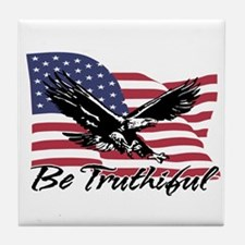 Be Truthiful Tile Coaster