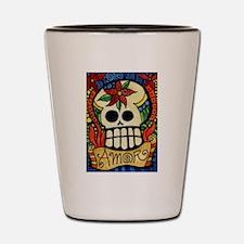 Amor Day of the Dead Skull Shot Glass