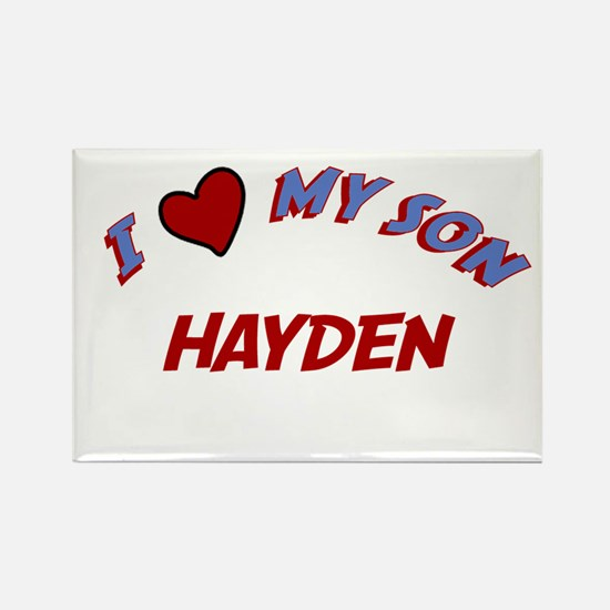 I Love My Son Hayden Rectangle Magnet