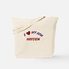 I Love My Son Hayden Tote Bag