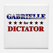 GABRIELLE for dictator Tile Coaster