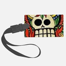 Amor Day of the Dead Skull Luggage Tag