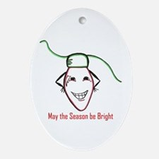 Christmas bulb Oval Ornament