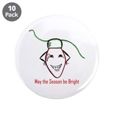 "Christmas bulb 3.5"" Button (10 pack)"