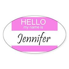 Jennifer Oval Decal
