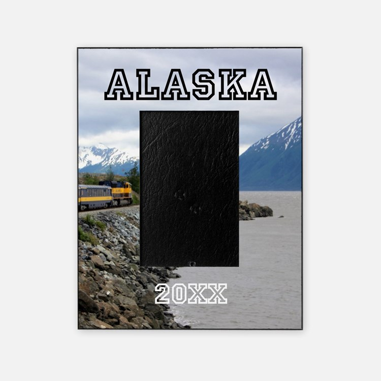 Alaska Train Personalized Picture Frame