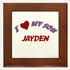 I Love My Son Jayden Framed Tile