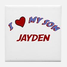 I Love My Son Jayden Tile Coaster
