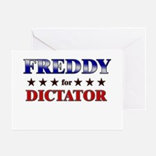 FREDDY for dictator Greeting Card