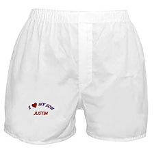 I Love My Son Justin Boxer Shorts