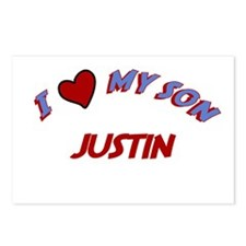 I Love My Son Justin Postcards (Package of 8)