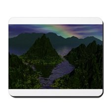rainbow in the distance mouse pad