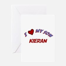 I Love My Son Kieran Greeting Card