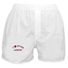 I Love My Son Landon Boxer Shorts