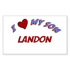 I Love My Son Landon Rectangle Decal