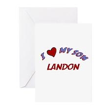 I Love My Son Landon Greeting Cards (Pk of 10)