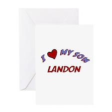 I Love My Son Landon Greeting Card
