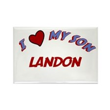 I Love My Son Landon Rectangle Magnet