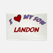 I Love My Son Landon Rectangle Magnet