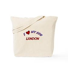 I Love My Son Landon Tote Bag