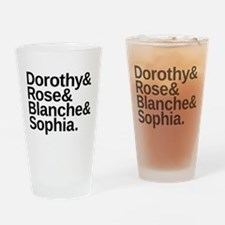 Golden Girls Name List Drinking Glass