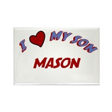 I Love My Son Mason Rectangle Magnet