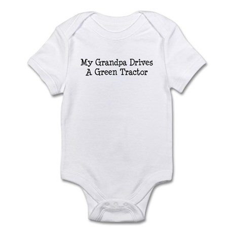 My Grandpa Drives a Green Tractor Infant Bodysuit