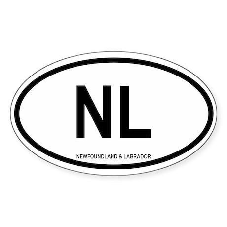 Newfoundland and Labrador Oval Sticker