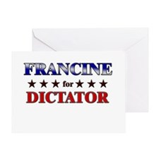 FRANCINE for dictator Greeting Card