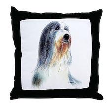 Bearded Collie #2 Throw Pillow