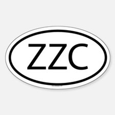 ZZC Oval Decal