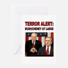 Greeting Card - Terror Alert - Bush Still at Large