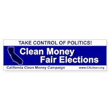 """Take Control of Politics"" Bumper Bumper Sticker"