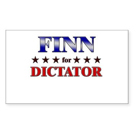 FINN for dictator Rectangle Sticker