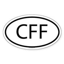 CFF Oval Decal