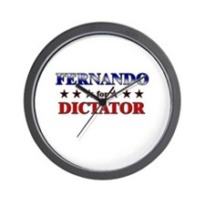 FERNANDO for dictator Wall Clock
