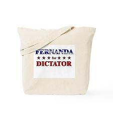 FERNANDA for dictator Tote Bag