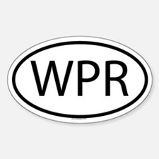 WPR Oval Decal