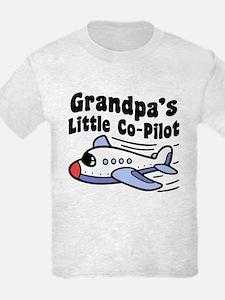Grandpa's Little Co-Pilot T-Shirt