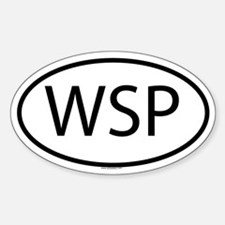 WSP Oval Bumper Stickers
