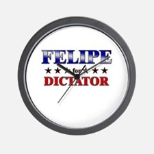 FELIPE for dictator Wall Clock