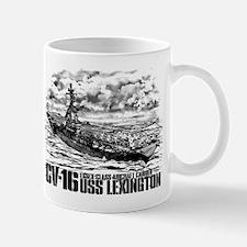 Aircraft carrier Lexington Mugs