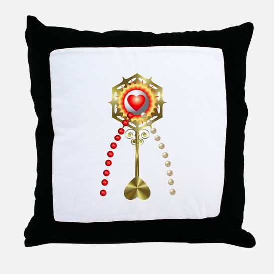 Holy Communion: Divine Mercy Throw Pillow