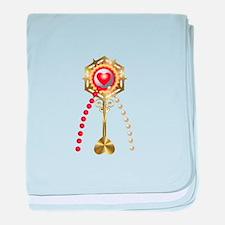 Holy Communion: Divine Mercy baby blanket