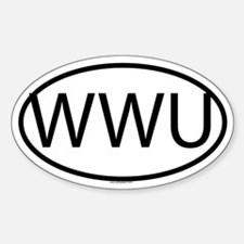 WWU Oval Decal