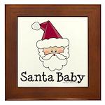 Santa Baby Christmas Framed Tile