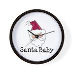 Santa Baby Christmas Wall Clock