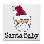 Santa Baby Christmas Tile Coaster