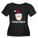 Santa Baby Christmas Women's Plus Size Scoop Neck