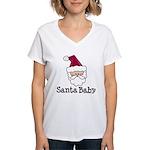 Santa Baby Christmas Women's V-Neck T-Shirt